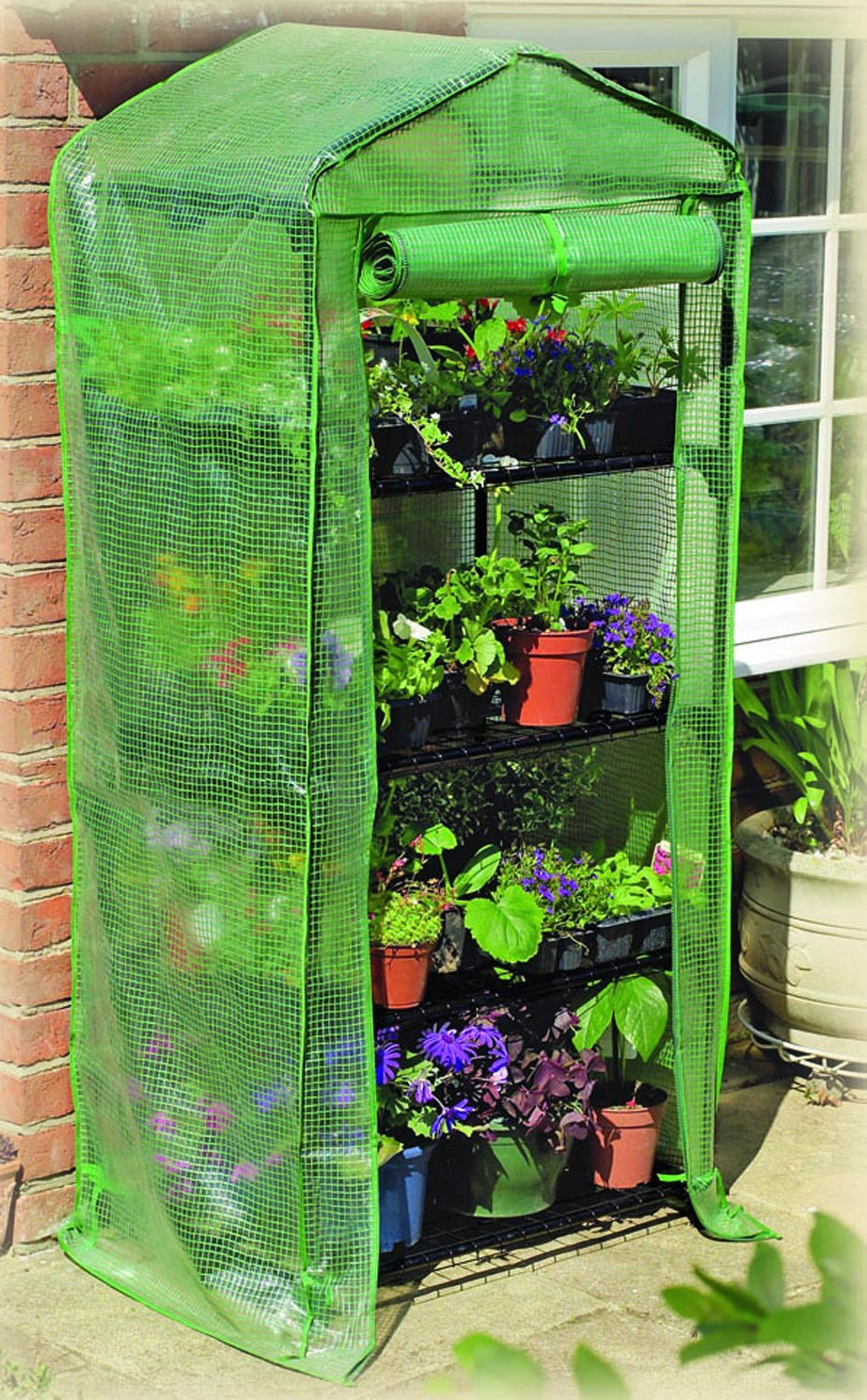 Mini Greenhouse with Shelves for Starting Butterfly Plants Indoors, in the garage, or outside.