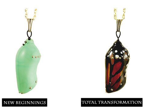 Monarch Chrysalis Transformation Pendants