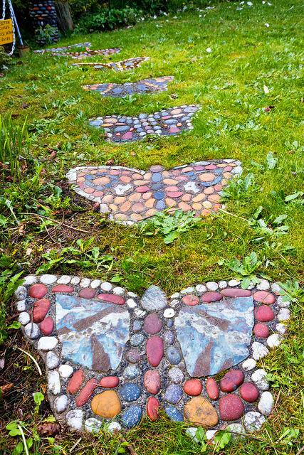 Twelve Butterfly Inspired Designs for your Garden- butterfly stepping stones