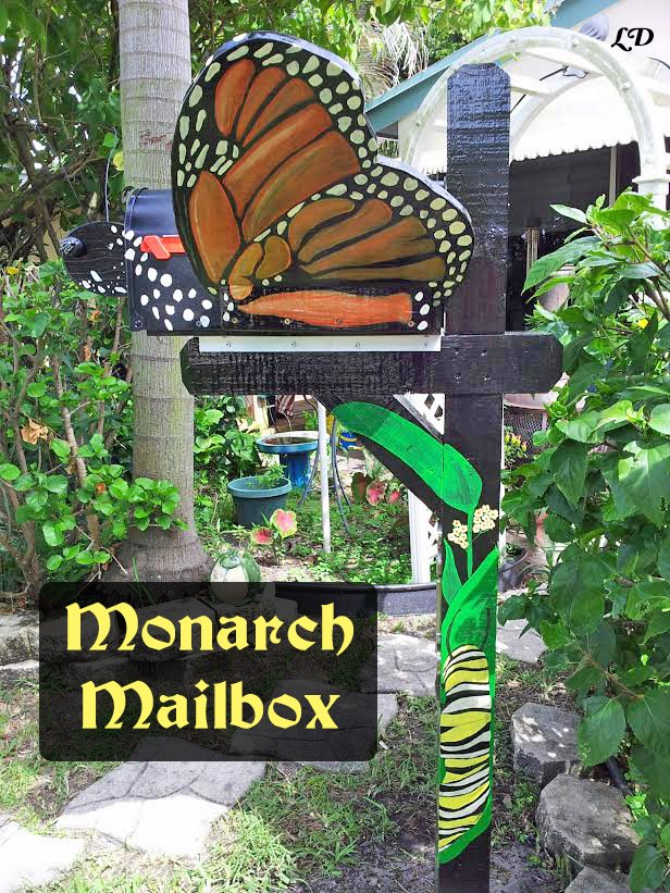 DIY Monarch Mailbox with supply list in case you'd like to recreate this magical monarch masterpiece at home...