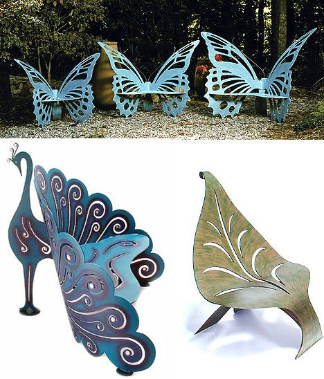 Ordinaire Twelve Butterfly Inspired Designs For Your Garden  Magnificent Metal  Butterfly Chairs