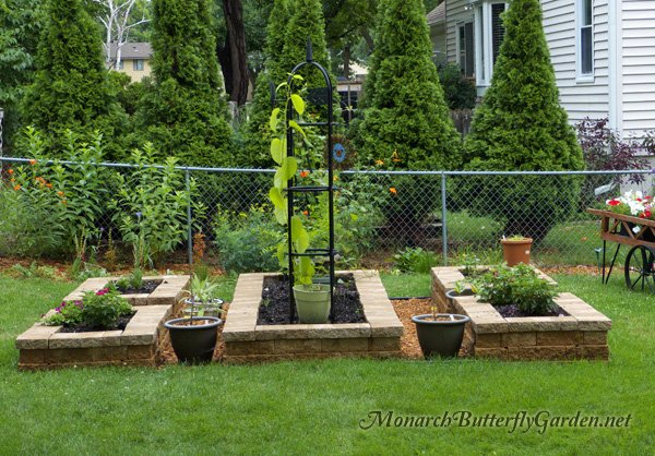 Twelve Butterfly Inspired Designs for your Garden- Easy Access Raised Beds Butterfly Shape