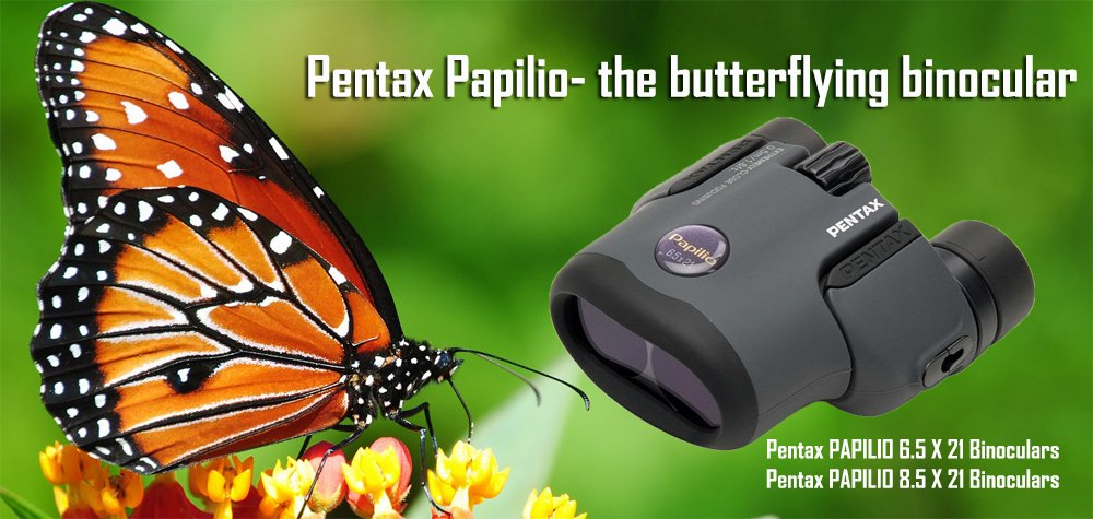 Good Mother's Day Gifts- Pentax Papilio butterflying binoculars will help mom watch butterflies undetected from afar or focus in for more details close up.