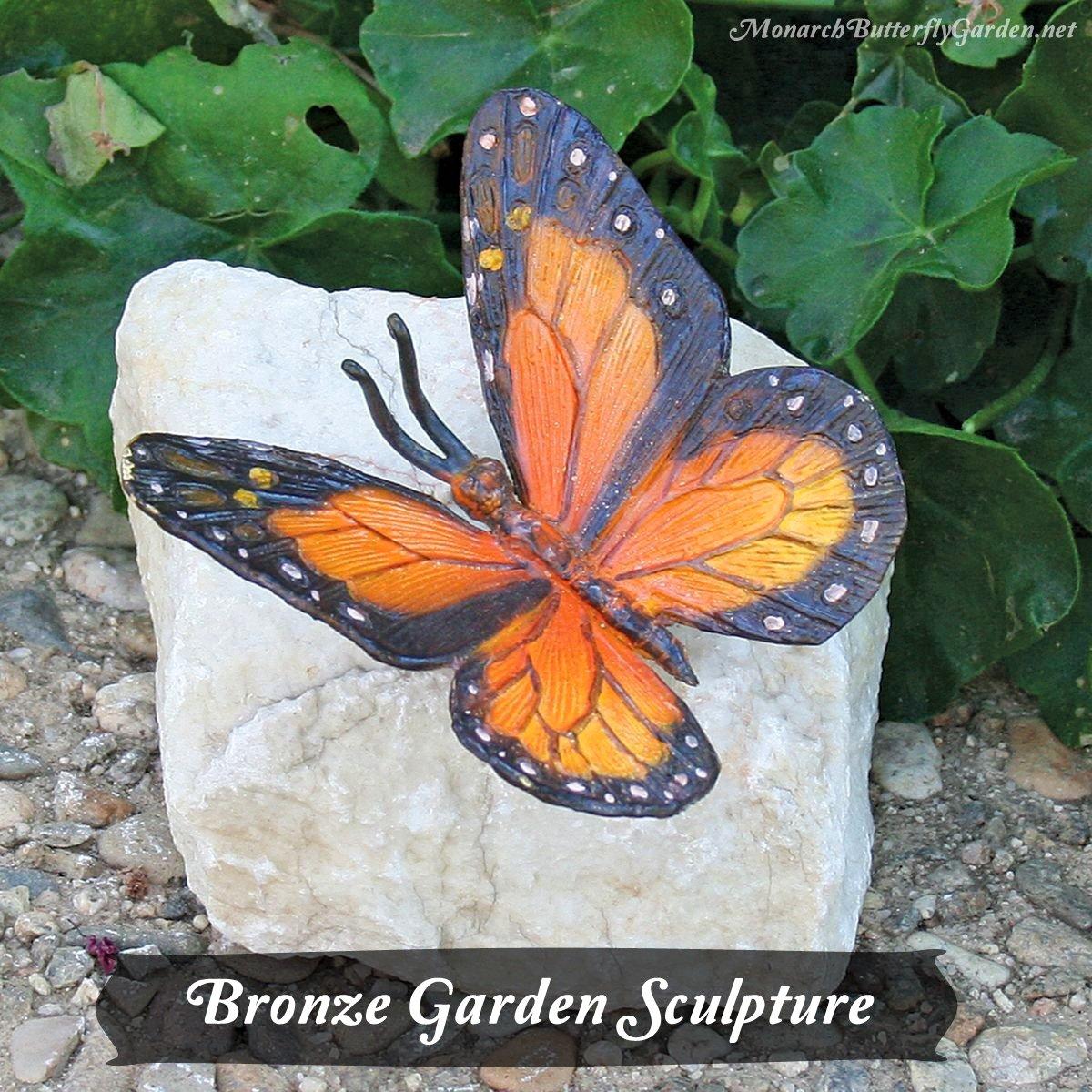 Bronze Monarch Butterfly Garden Sculpture- Gift Idea 11
