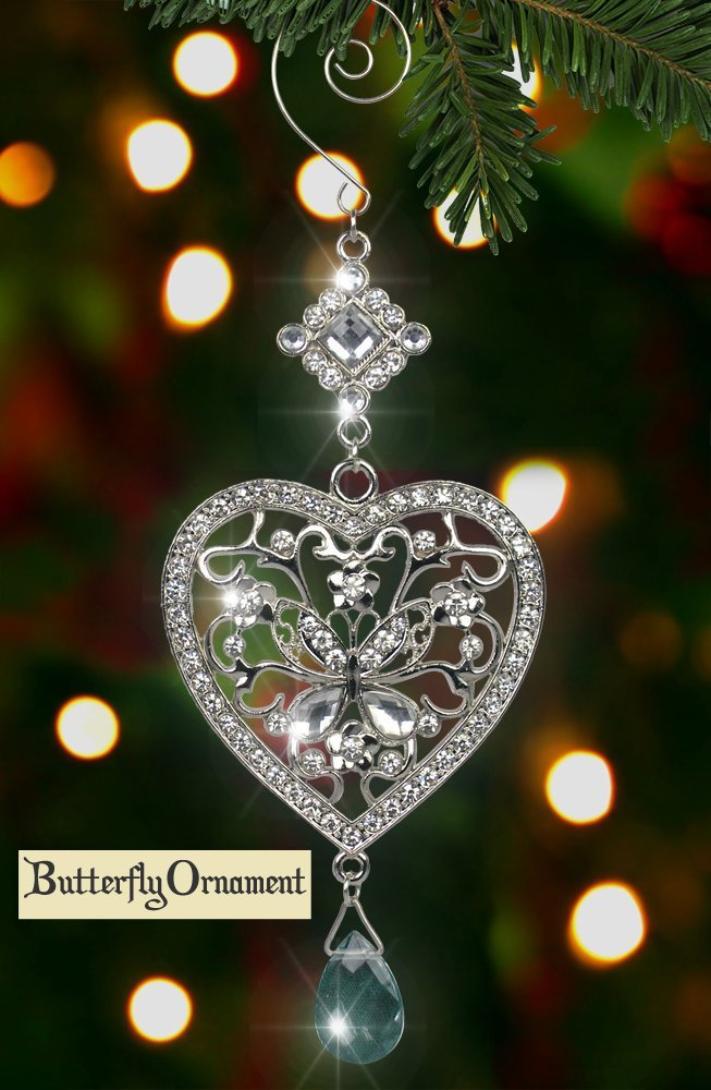 Butterfly in Heart Ornament Gift Idea