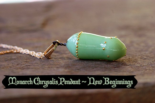 Monarch Chrysalis New Beginnings Transformation Pendant