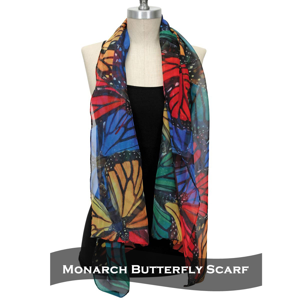Artist Designed Monarch Butterfly Scarf- Butterfly Gift Idea 8