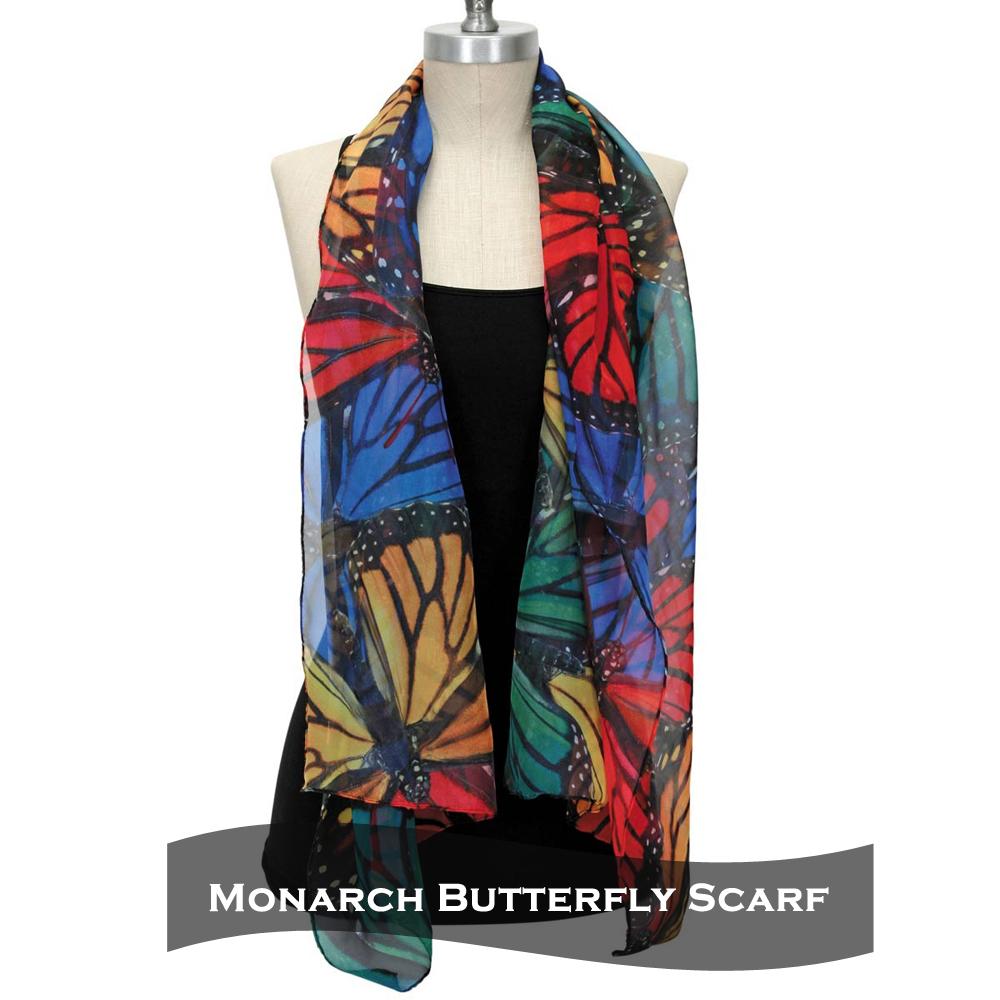 Artist Designed Monarch Butterfly Scarf- Butterfly Gift Idea 8