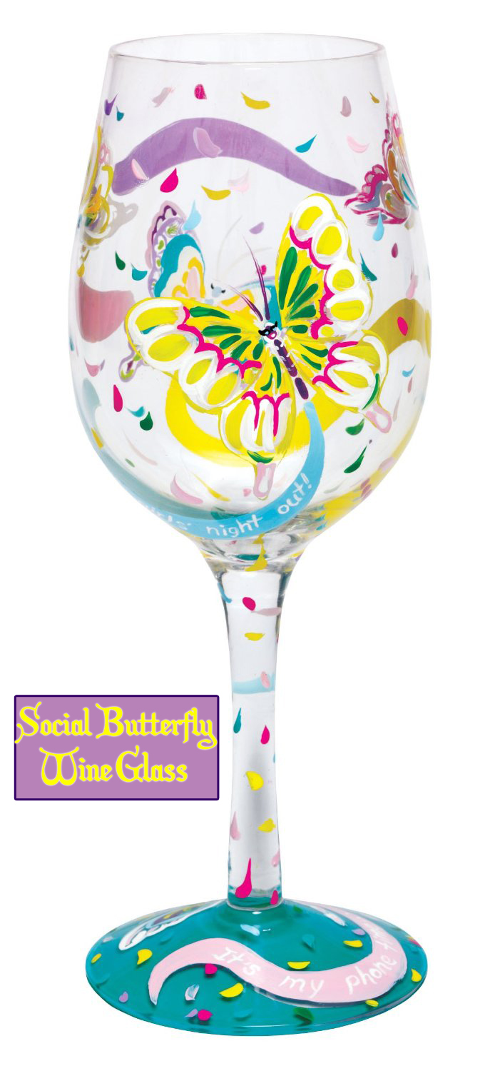 Lolita Social Butterfly Wine Glass Butterfly Gift