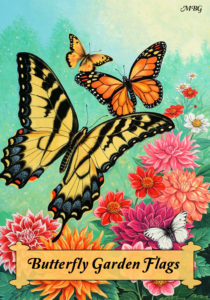 Butterfly Garden Flag- Gift Ideas for Butterfly Gardeners