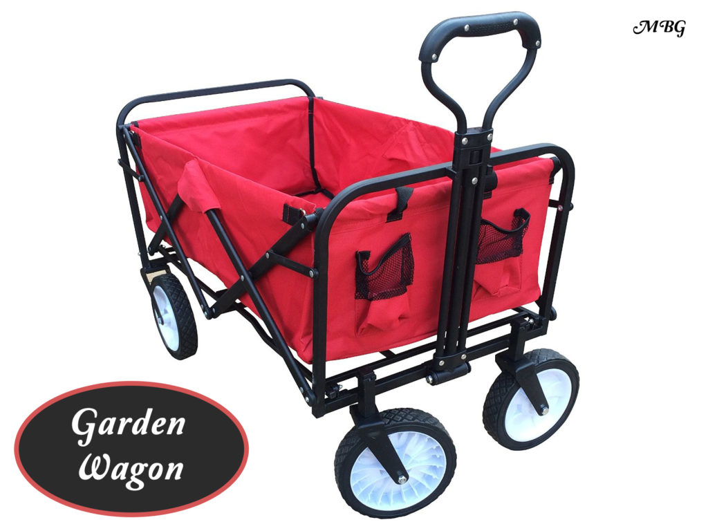 Collapsible Garden Wagon with No Assembly Required is a gardeners dream for plant sales and hauling precious plants around the garden.