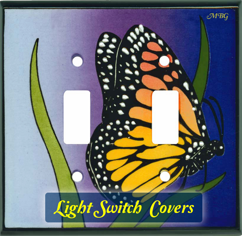 Monarch Butterfly Light Switch Covers for single, double, and triple lights- Butterfly Gift Ideas to light up a nature lover's life