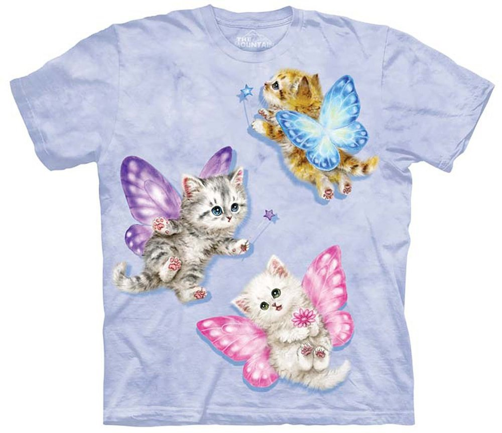 Butterfly Kitten Fairies Tshirt- Making the World a Happier Place