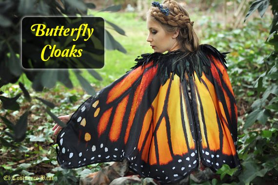 Monarch Butterfly Cloak- Go Butterfly Casual to your next Garden Party
