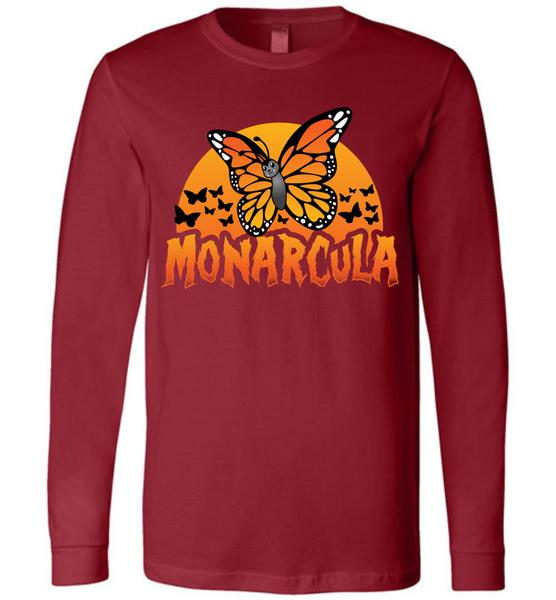 Monarch Butterfly Halloween Tees- Monarcula and the Batterflies tshirts. Choose your size, style, and color.