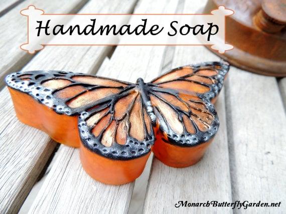 Handmade Monarch Butterfly Soap w/ a heavenly Tangerine Mint Scent- Butterfly Gift Idea 10