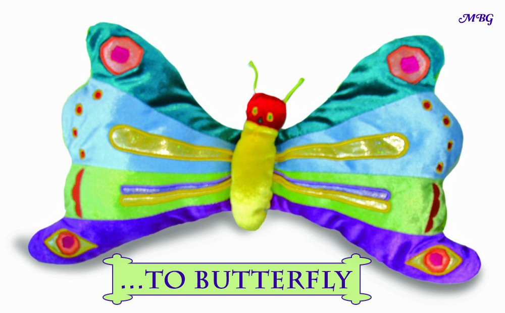 The Very Hungry Caterpillar Plus Toy Butterfly transforms from caterpillar...