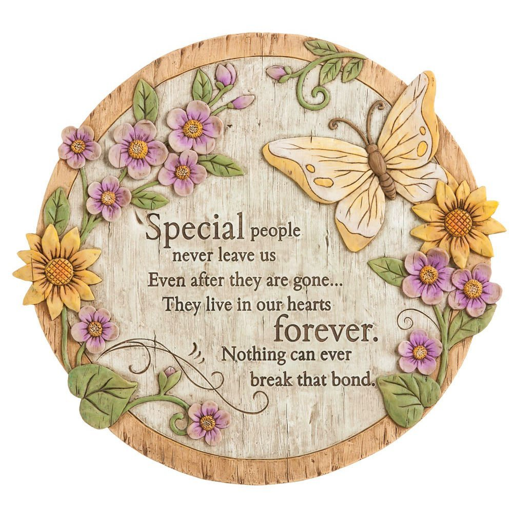 Many butterfly garden stones are created as lasting tributes to someone special that is no longer with us including parents, military members who made the ultimate sacrifice, and children that have left this earth far too soon.