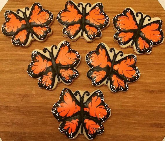 Monarch Butterfly Fall + Halloween Cookies