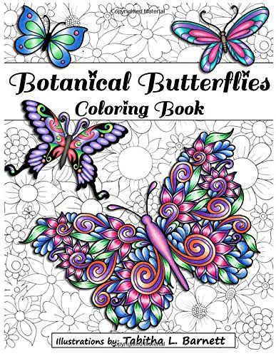 Botanical Butterflies Adult Coloring Book- Butterfly Gift idea 3