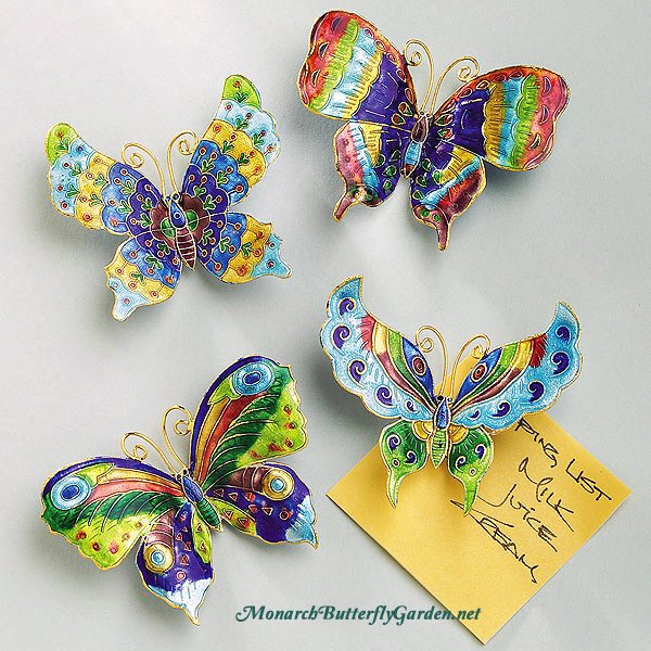 Butterfly Magnets for your Refrigerator- 12 Butterfly Gift ideas