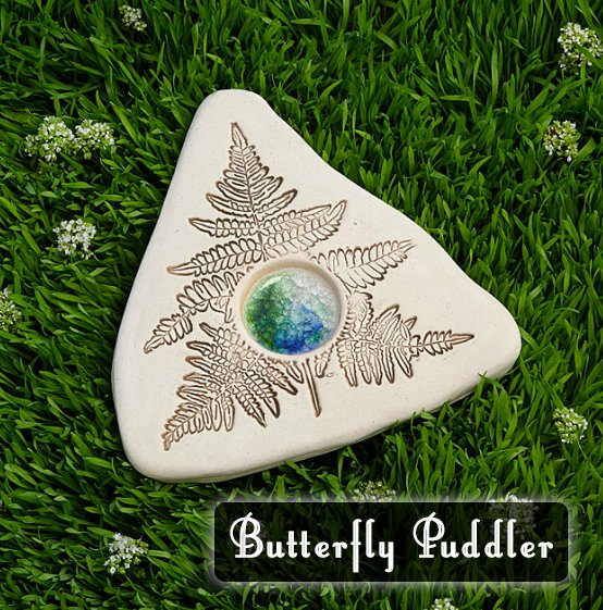 A Butterfly Puddler is beautiful garden decor that also provides salt and minerals butterflies need. A great gift idea for your favorite butterfly gardener.