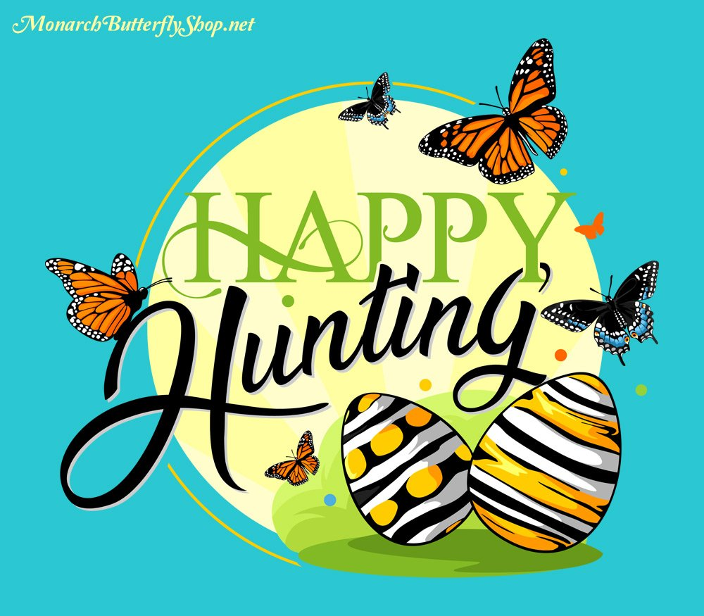 Happy Hunting Easter Butterfly Shirt with Monarchs and Swallowtails