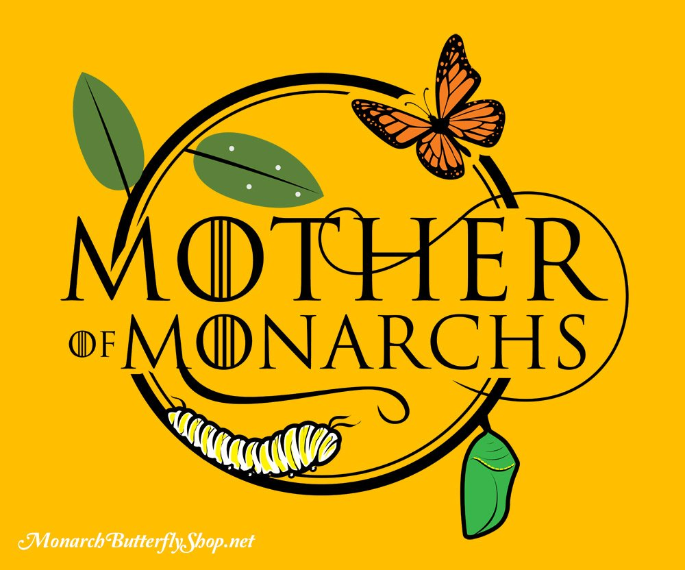 Mother of Monarchs Raising Butterflies design available on butterfly t-shirts and hoodies