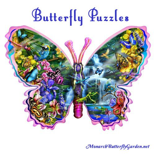 Butterfly Waterfall 1000 Piece Puzzle