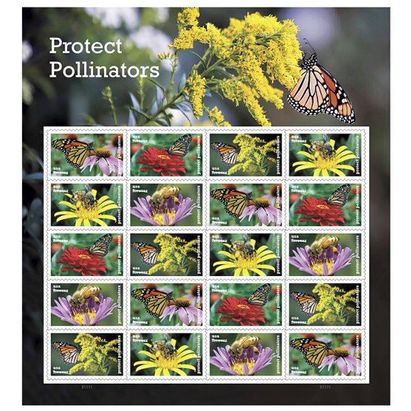 Protect Pollinators Forever stamps- Butterfly Gift Idea