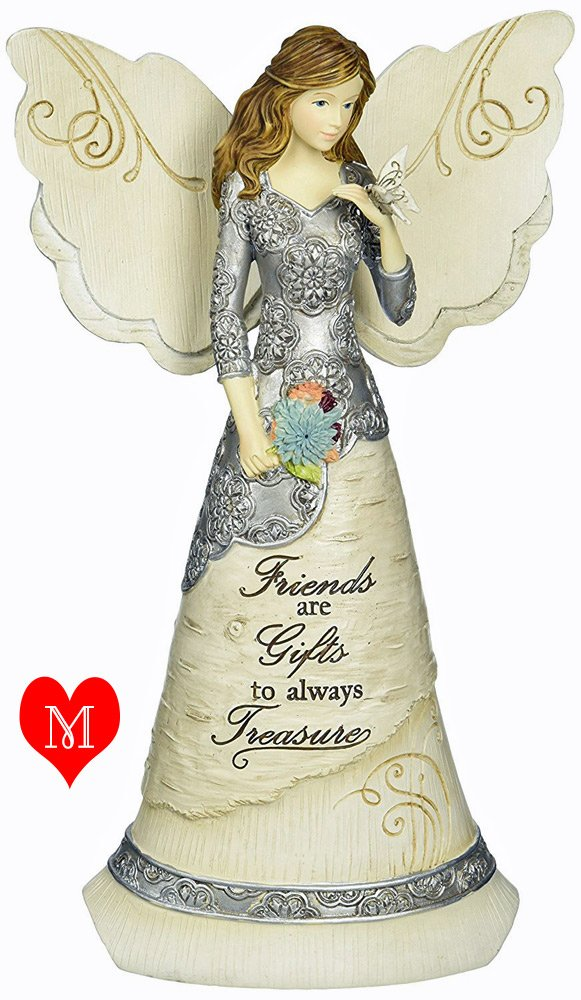 Friend Angel Figurine with quote- butterfly gift idea