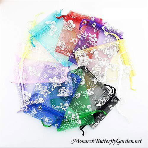 100 butterfly organza bags assorted colors butterfly gift ideas christmas