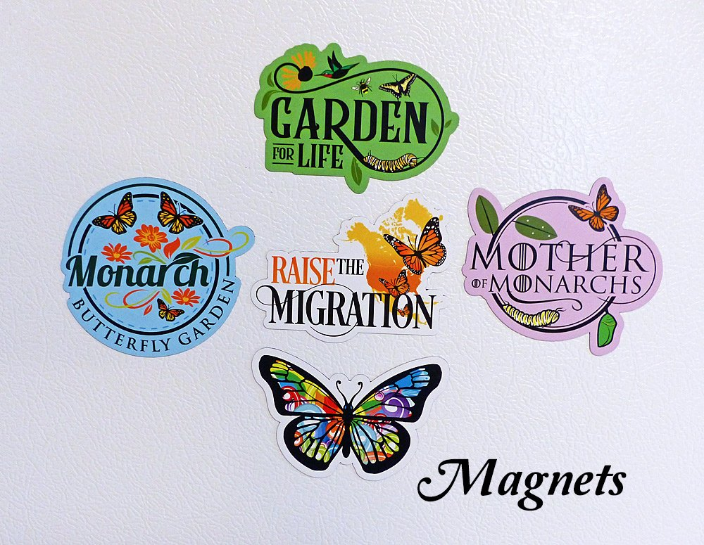 5 Butterfly Refrigerator Magnets- Butterfly Gift Idea