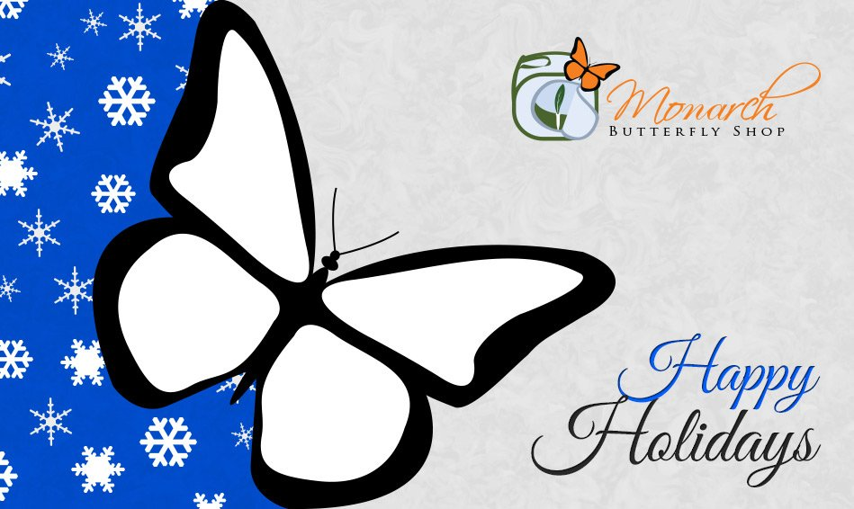 Happy Holidays Butterfly Gift Card