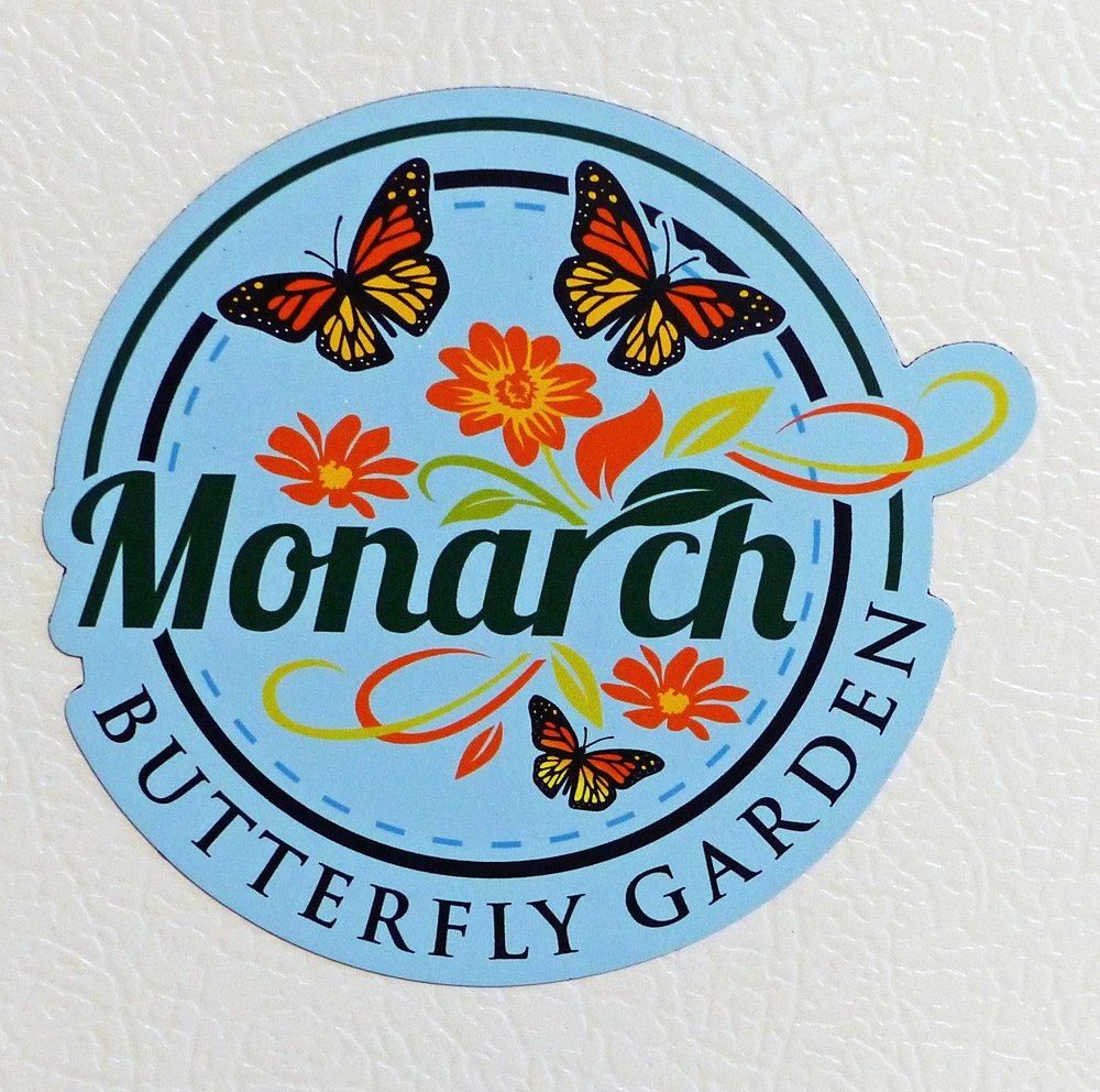 Monarch Butterfly Garden Refrigerator Magnet- Butterfly Gift Idea