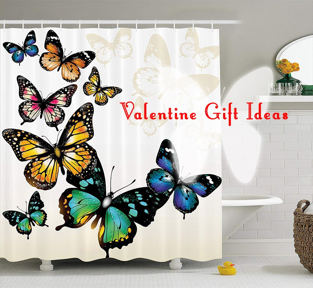 Valentine Gift Idea- Butterfly Shower Curtain