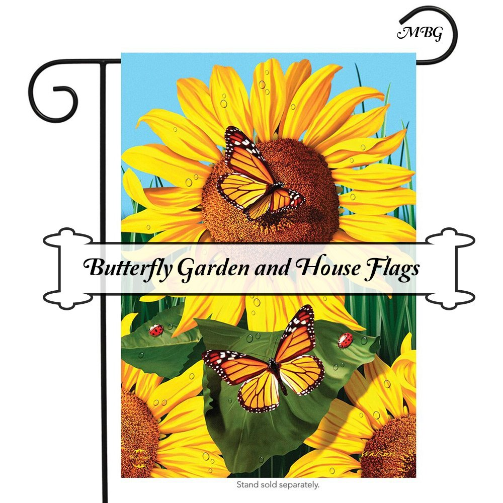 Monarchs and Sunflowers Butterfly Garden Flag