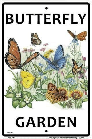 Aluminum Butterfly Garden Sign- Gift idea for gardeners