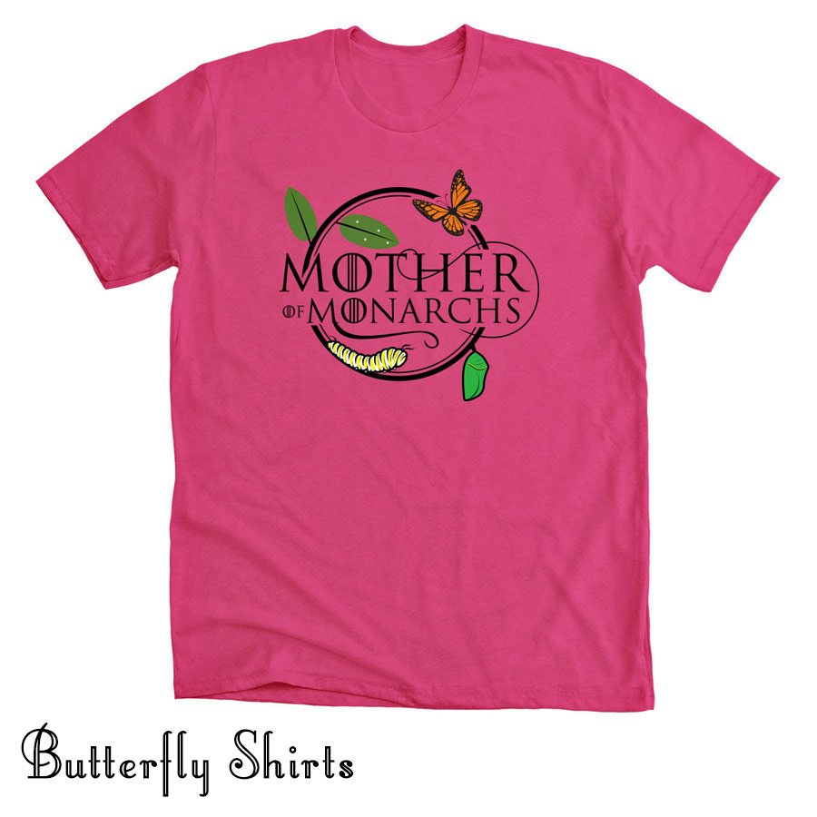 Mother of Monarchs Butterfly Life Cycle shirt- berry