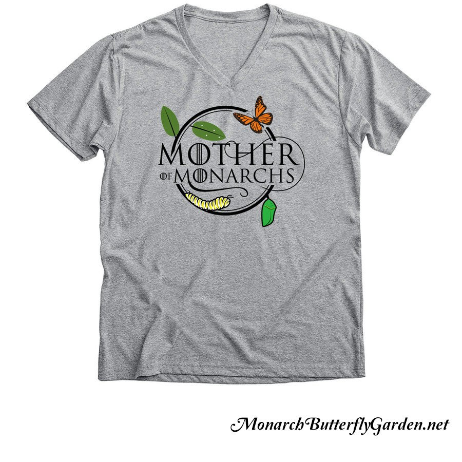 Mother of Monarchs Butterfly Life Cycle v-neck shirt