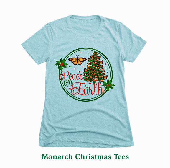 Peace On Earth Christmas shirts in both women's and unisex styles and sizes