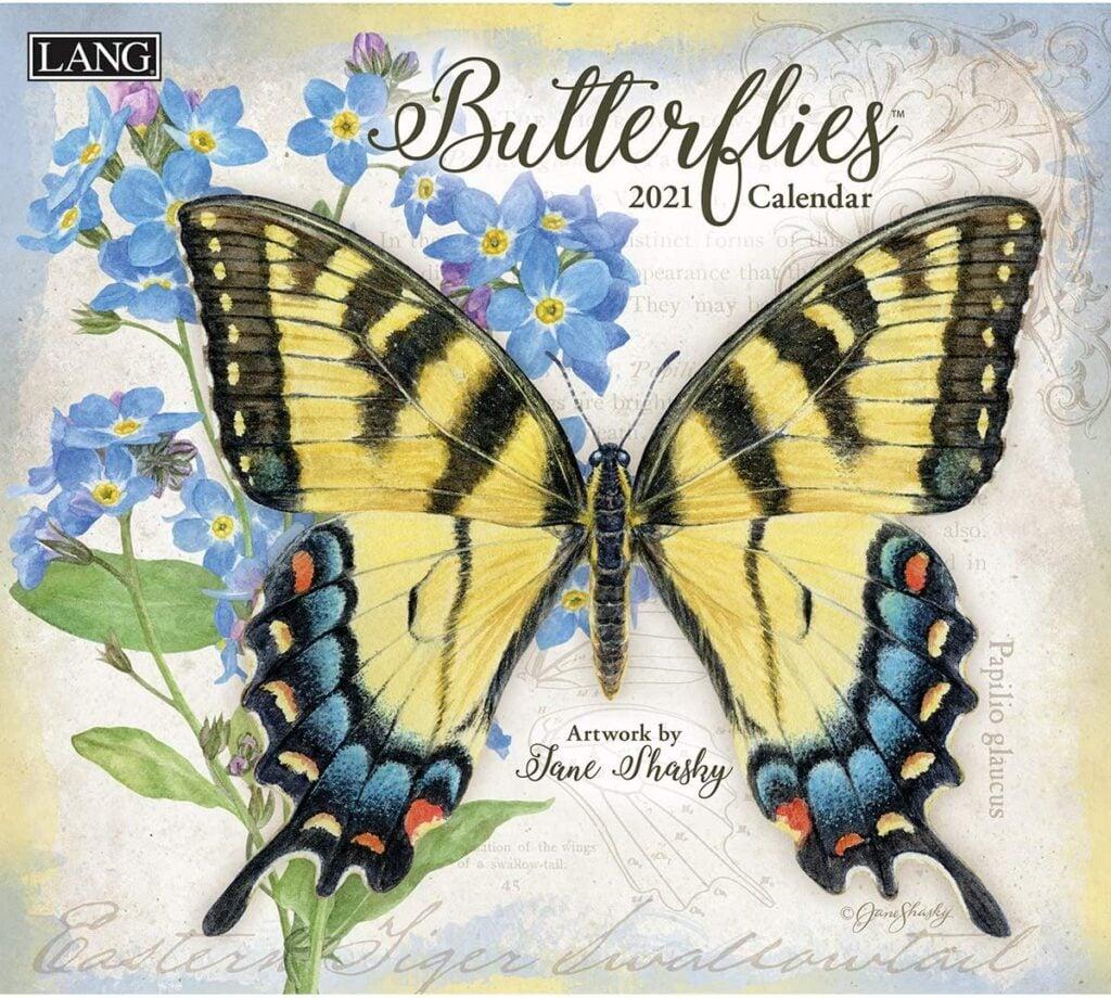 2021 Large Butterflies Wall Calendar