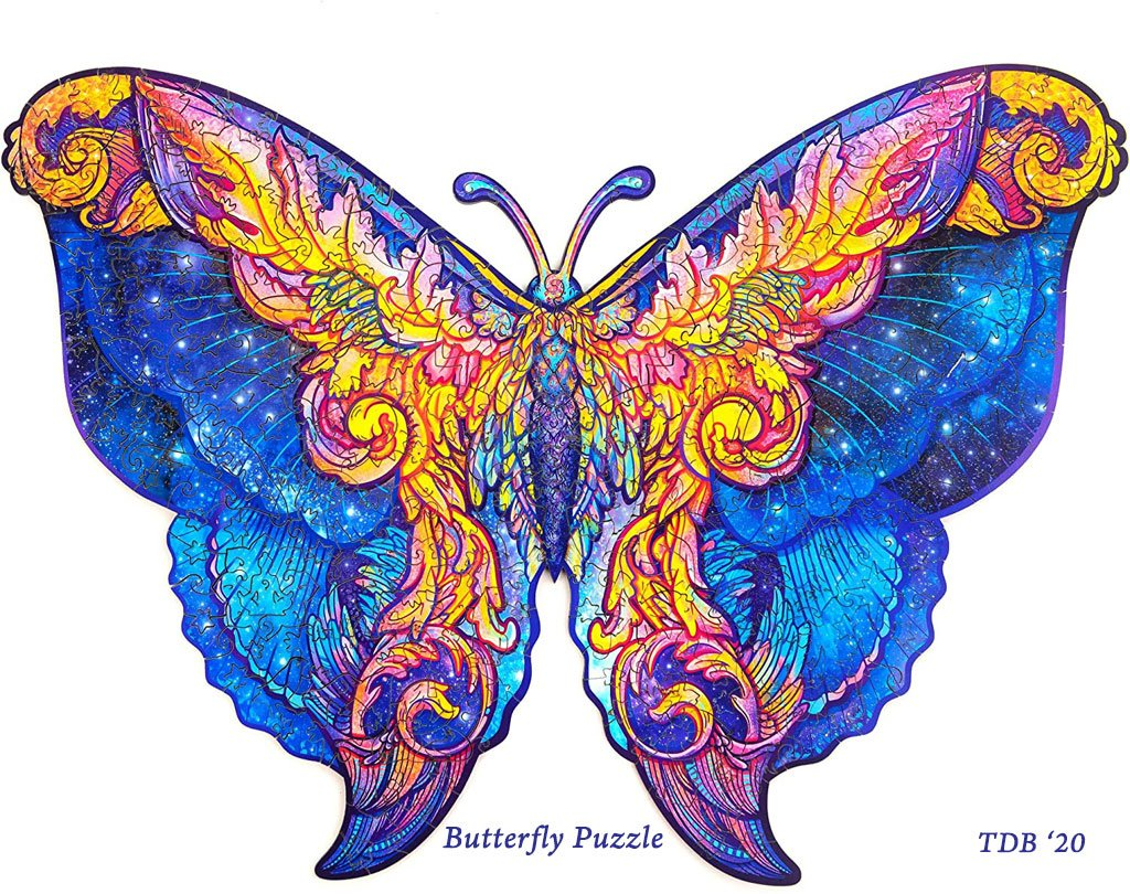 Wooden Butterfly Puzzle for Adults- Gift idea