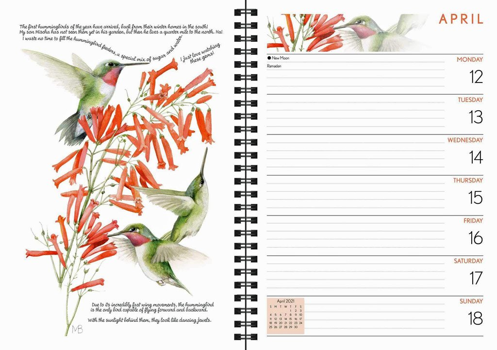 Nature Inspirations Bird and Butterfly Daily and Weekly Planner 2021