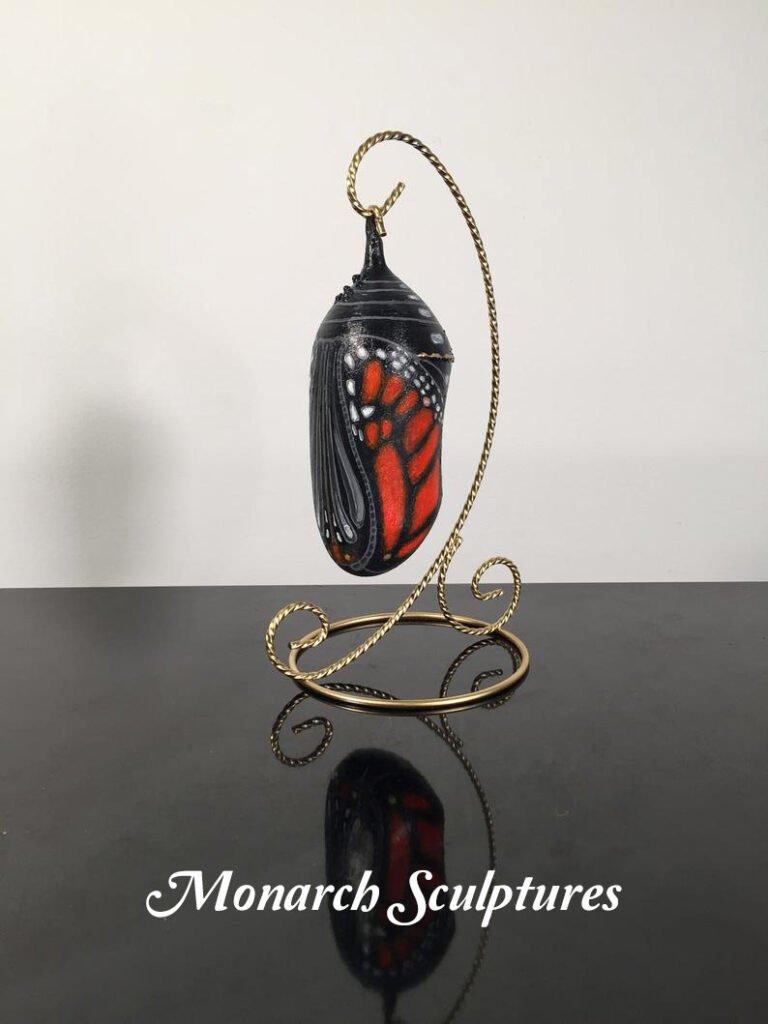 smal transparent chrysalis sculpture