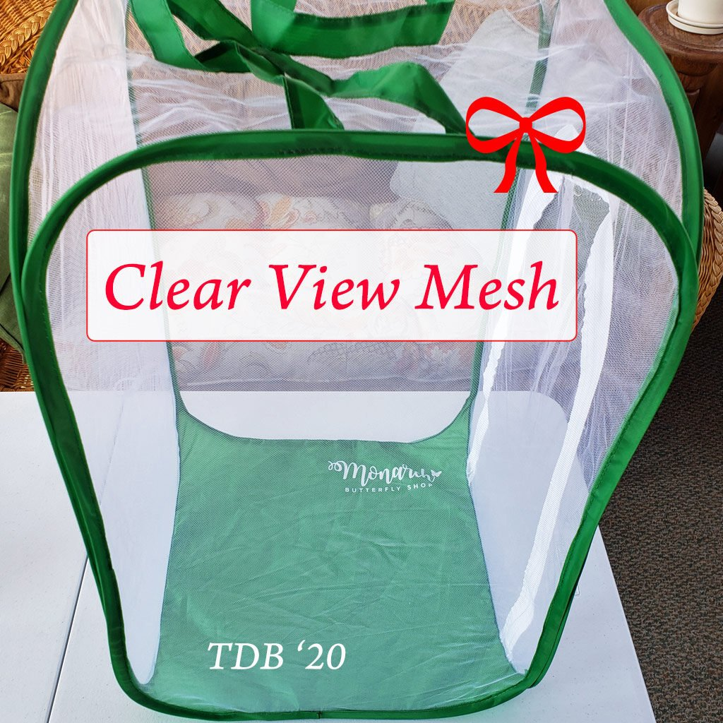 Clear View Mesh Caterpillar Cage- Watch Caterpillars grow through the butterfly life cycle from four see-through sides.